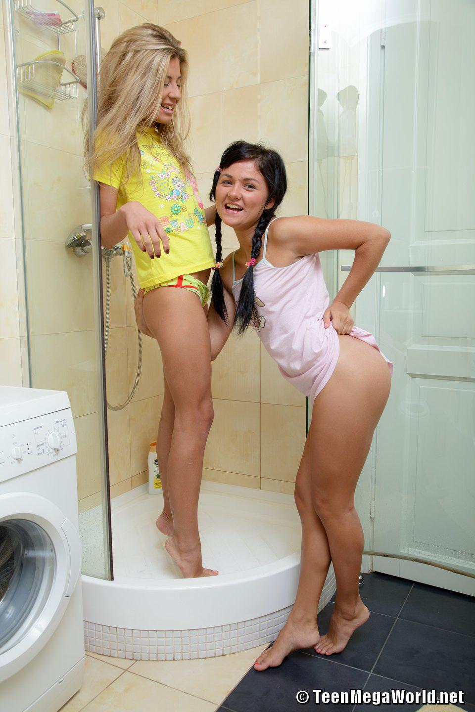 Naked girls in shower pics lesbian