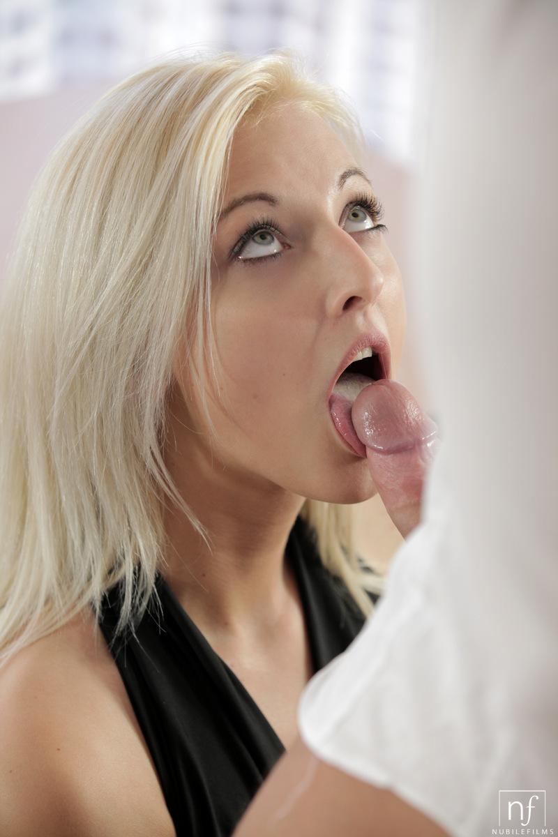 German Blonde Milf Blowjob